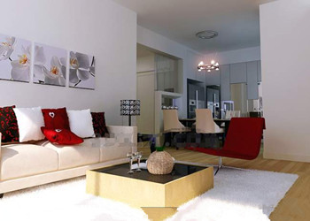 Modern simple and nice living room 3D Model