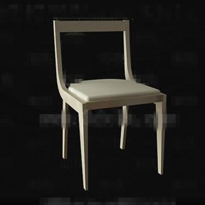 Modern simple light yellow chair 3D Model