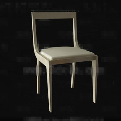 Modern simple light yellow chair 3D Model