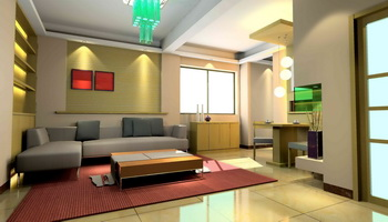 Modern small-space living room 3D Model