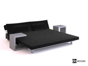 Modern style bedroom furniture combination 3D Model