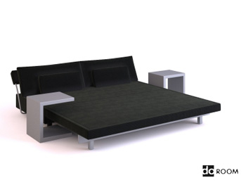 Modern style bedroom furniture combination 3D Model