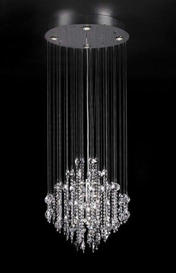 Modern style crystal glass chandelier 3D Model