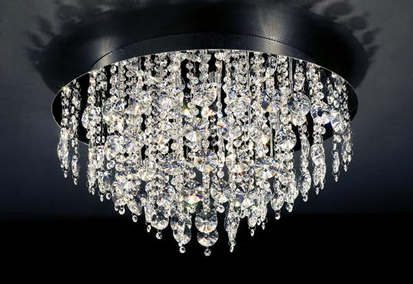 Modern Style Heart Shape Crystal Pendant Lamp 3D Model