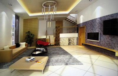 Modern style living room 3D (including materials)
