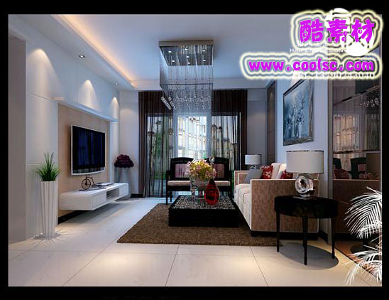 Modern Style Living Room��Combination of Modern and Classical 3D Model
