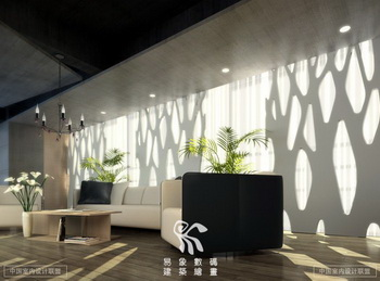 Modern style office reception room scene 3D Model