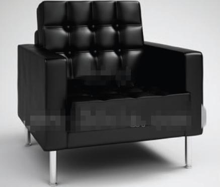 Modern style pure black sofa 3D Model