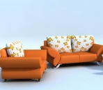 Modern style sofa 3D Model