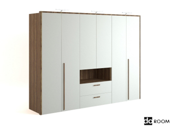 Modern style white wooden cabinet 3D Model