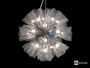Modern stylish shape chandelier 3D Model