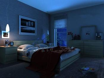 Modern ultra-simple quiet bedroom 3D Model