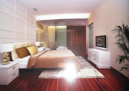 Modern Western-style bedrooms (including materials) 3D Model