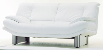 Modern White double seats fabric sofa 3D Model