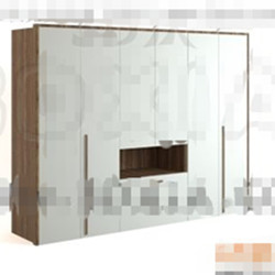 Modern white minimalist wardrobe 3D Model