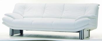 Modern White three seats fabric sofa 3D Model