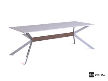Modern white unique bracket table 3D Model