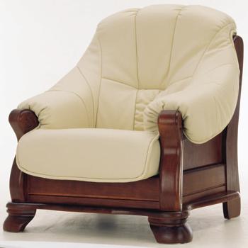 Modern wooden base leather sofa 3D Model