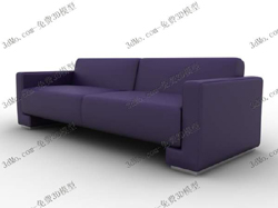 More than simple 3D model of the purple couch (with material)