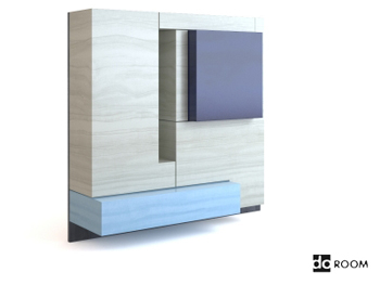 Multi-color combination of the wardrobe 3D Model