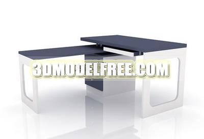 Multi-function office desk 3D models