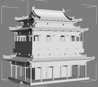 Multi-layer model of ancient architecture 3D Model