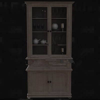 Multi-layer wooden wine cabinet 3D Model