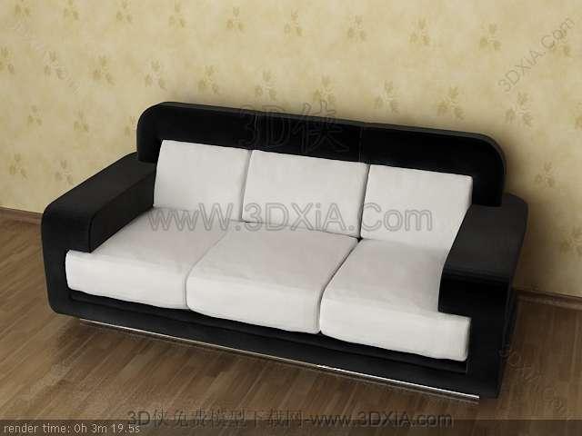 Multiplayer cloth art sofa 3D models-1
