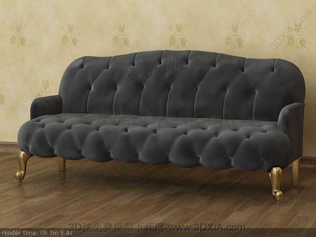 Multiplayer cloth art sofa 3D models-2