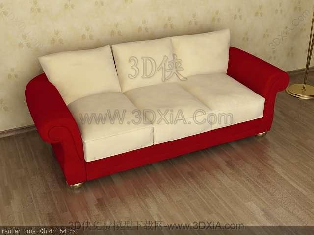 Multiplayer cloth art sofa 3D models-4