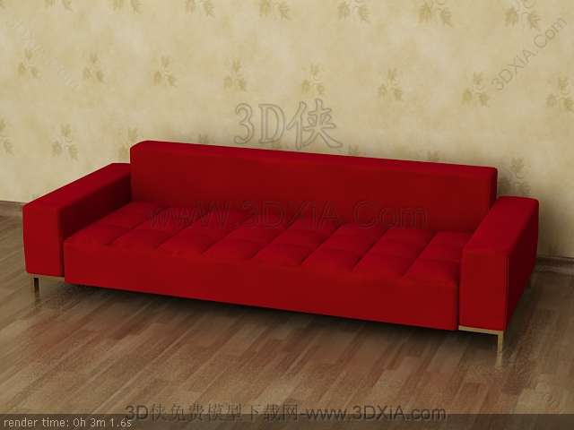 Multiplayer cloth art sofa 3D models-6