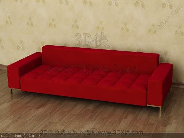 Multiplayer cloth art sofa 3D models-6
