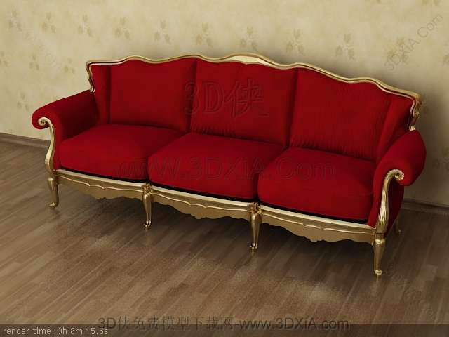 Multiplayer cloth art sofa 3D models-7