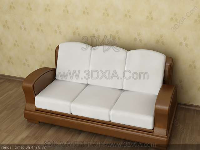 Multiplayer cloth art sofa 3D models-8