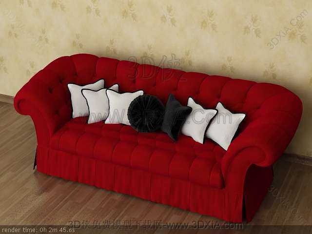Multiplayer cloth art sofa 3D models-9