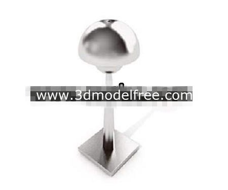 Mushroom-shaped metal lamp 3D Model