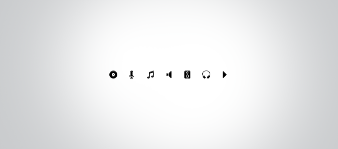 Musical Icon Set PSD