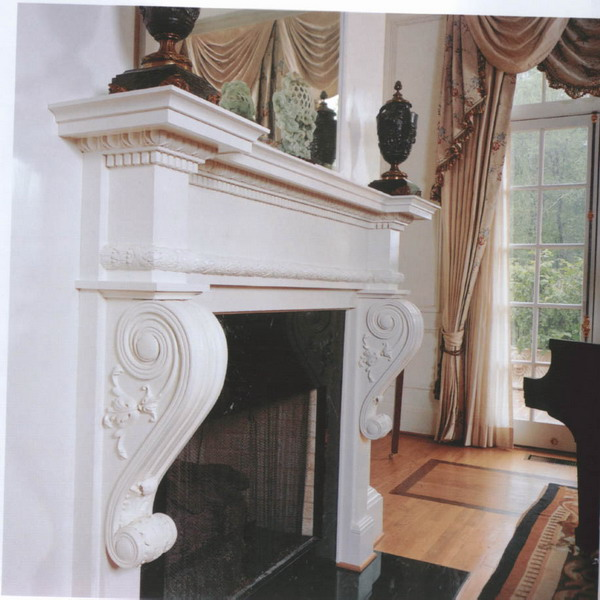Neo-classical fireplace 3D Model