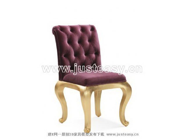 New Baroque chair 3D Model