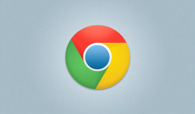 New Chrome Logo PSD