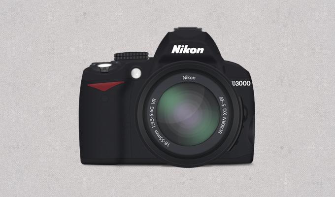 Nikon D3000 Icon PSD