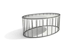 Oblong metal tea table 3D models