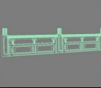 Of white marble railings Model 3D Model