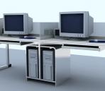 Office furniture 001 – desks 3D Model