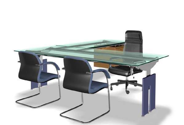 Office furniture 002-��40�� 3D Model