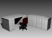 Office furniture 005-desks��102�� 3D Model