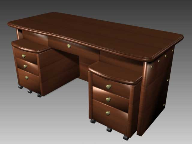 Office furniture 005-desks��102�� 3D Model