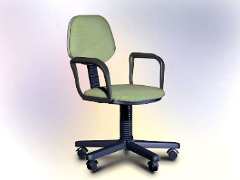 Office furniture model – swivel chair 3D Model