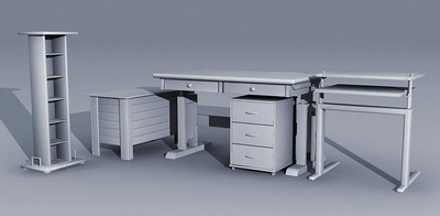 Office furniture portfolio 1 3D Model