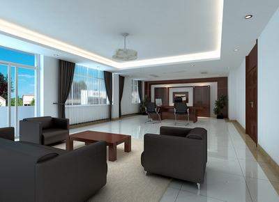 Office of the Chairman model (with map) 3D Model